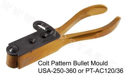 Cimarron Colt Pattern Brass  36 Caliber Bullet Mold  Dual